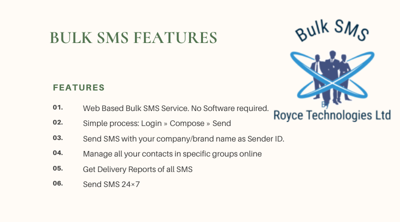 Bulk SMS royce technologies